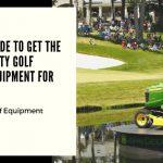 John Deere golf course equipment