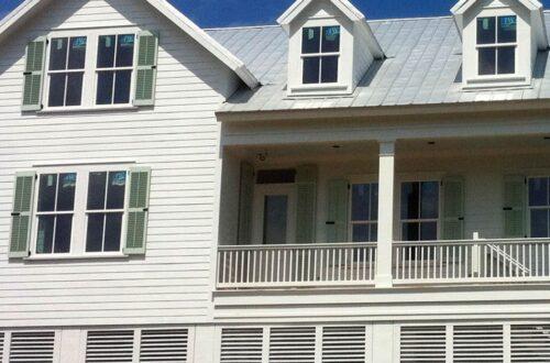 black shutters for windows