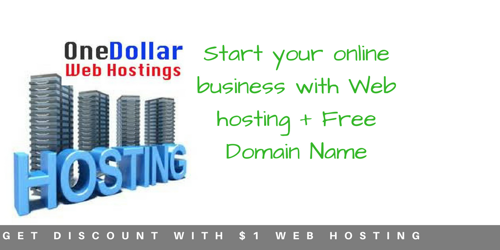 Start your online business with Web hosting + Free Domain Name