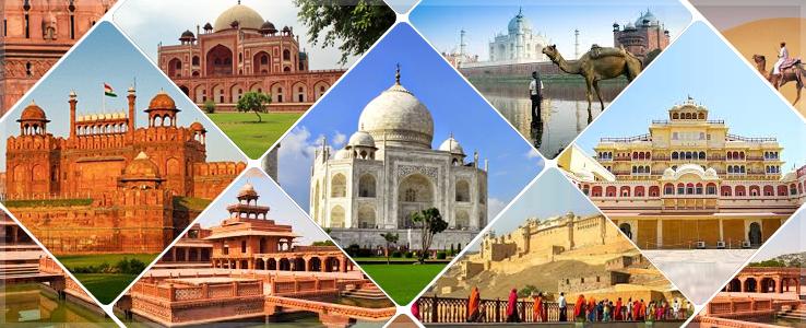 New Delhi, Agra and Jaipur