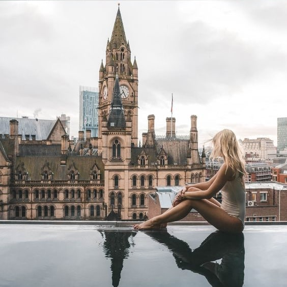The Infinity Pool of King Street Townhouse Hotel in Manchester