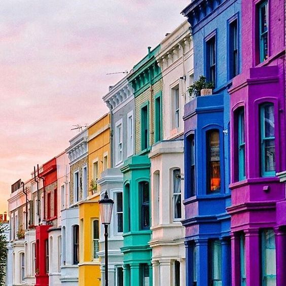 The Picturesque Street in Notting Hill